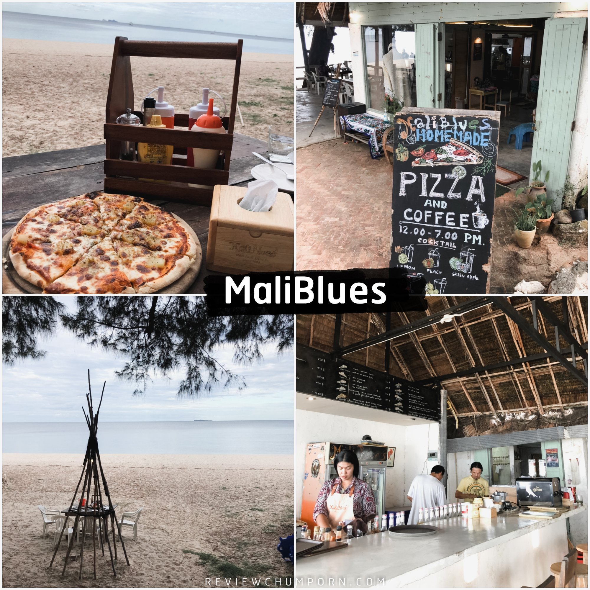 ร้าน-Maliblues-Bar-วิวหลักล้านราคาหลักร้อยติดหาดริมทะเลมากับเมนูพิซซ่าสูตรเด็ดจากทางร้าน คลิกที่นี่ ชุมพร,จุดเช็คอิน,สถานที่ท่องเที่ยว,ของกิน,ร้านอาหาร,คาเฟ่